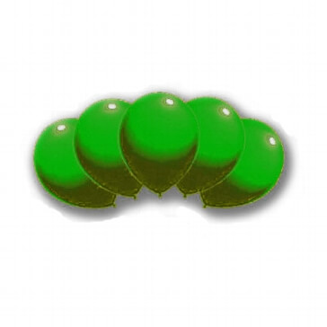 Luftballons als grüne Hochzeitsdeko