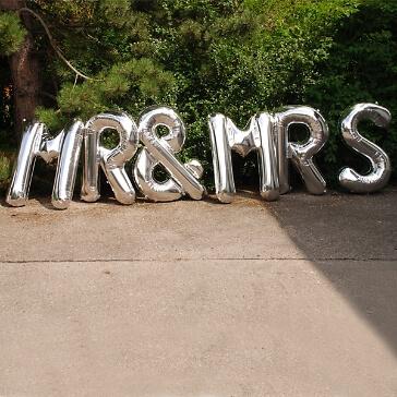 """Folienballon """"Mr & Mrs"""", silber"""
