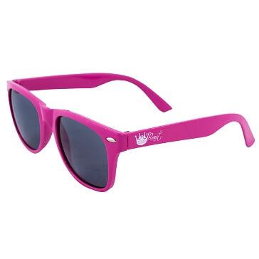 Sonnenbrille Team Braut, pink mit weißer Aufschrift