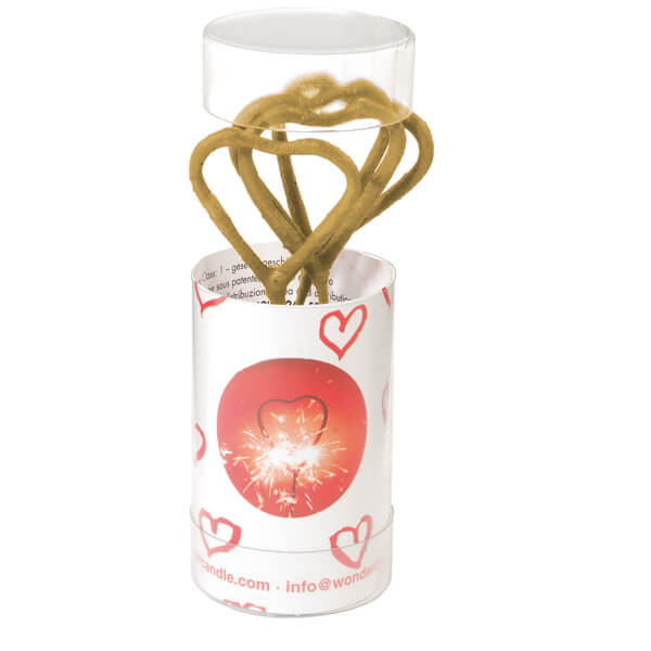 MINI wondercandle, 4er Set Herz, gold