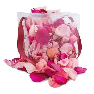 Echte Rosenblätter in Pink-Mix