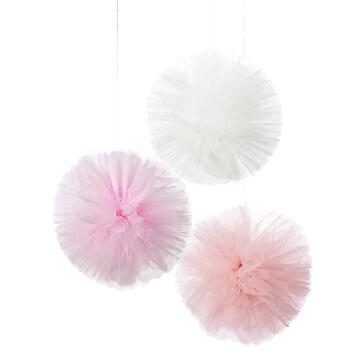 PomPoms Tüll-Fluffy, pastell