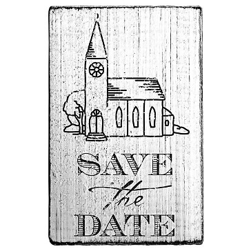 stempel save the date mit kirche