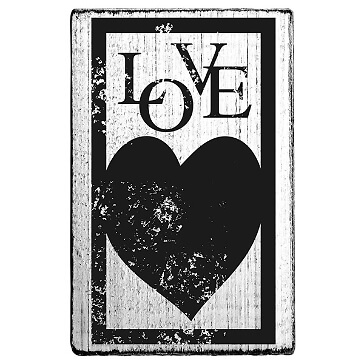 vintage stempel love grosses herz