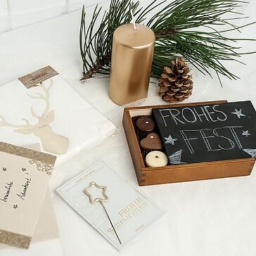 geschenkidee weihnachtsgeschenkbox