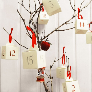 DIY-Set Adventskalender Boxen zum Befüllen