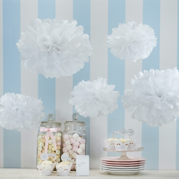 PomPoms Fluffy in Weiß
