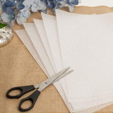 5 Blatt Transparentpapier Barock, A4