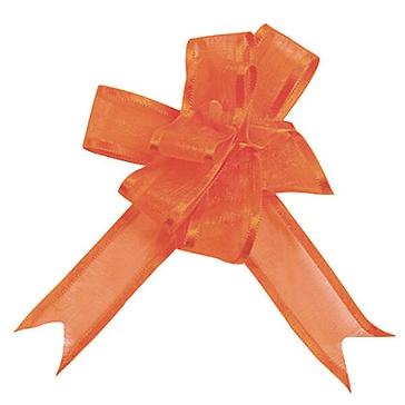 Organzaschleife Mini, orange, 5 St.