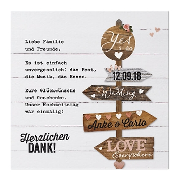 Save-the-Date-Karte Eva