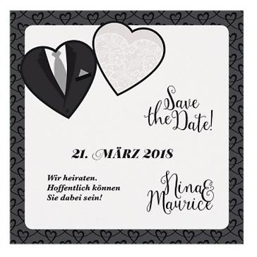 Save-the-Date-Karte Viola