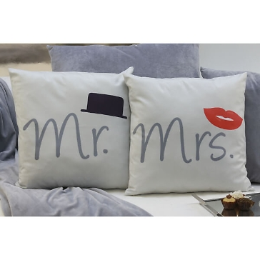 Geschenkset Kissen Mr und Mrs
