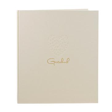 Gästebuch Herzensfreude, beige