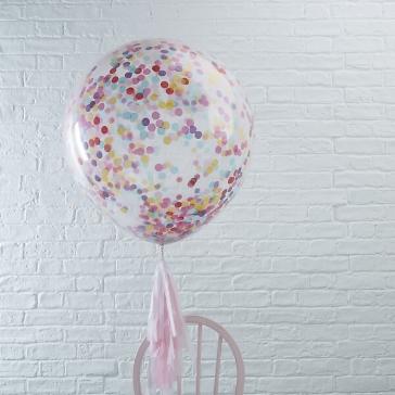 xxl ballons mit konfetti bunt