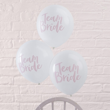 ballons team bride weiss rose