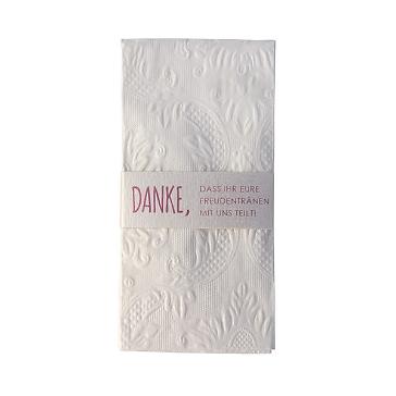 taschentuchhalter danke rosa