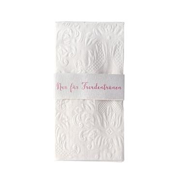 taschentuchhalter nur fuer freudentraenen rosa