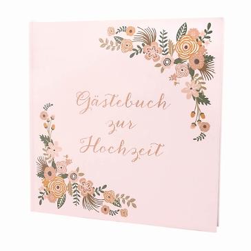 Gästebuch Blüten Vintage rosé