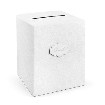 Geschenkbox Briefbox Hochzeit Weiss