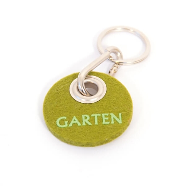 Filz-Schlüsselanhänger Garten