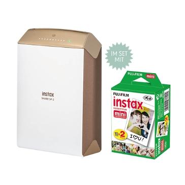 Instax Share mobiler Drucker, gold, inkl. Filme