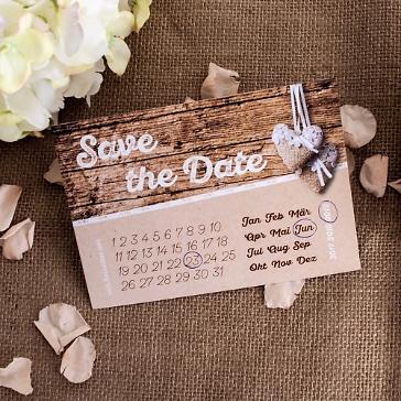 Save the date Hochzeit holzoptik