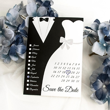 Savet the date Hochzeit black and white