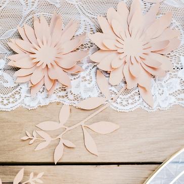 Tischdeko Hochzeit Ranken Rosa