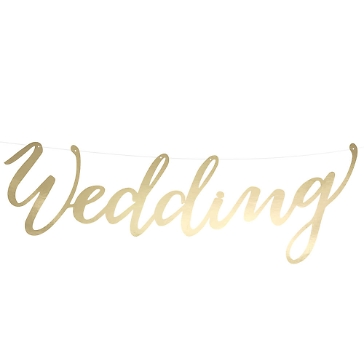 Girlande Wedding Gold