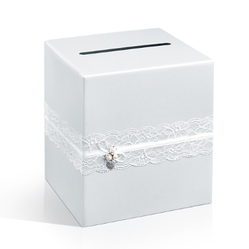 Geschenke Box Klassik Weiss Spitze