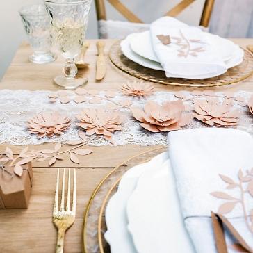 Papierblueten Hochzeit Rosa