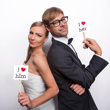 Photobooth Accessoire Schilder Brautpaar