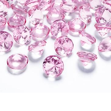 Deko Diamanten Rosa