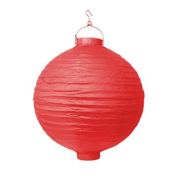 LED Lampion 30 cm Rot