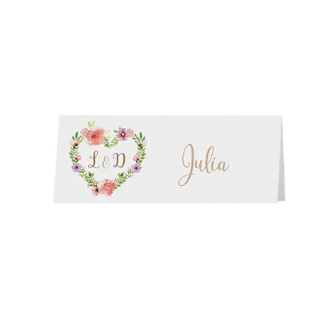 Tischkarte Hochzeit Irene