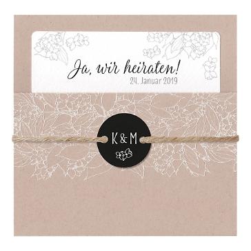 Hochzeitseinladung Rosie Naturpapier