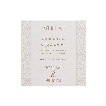 Save-the-Date-Karte oder Dankeskarte Christina