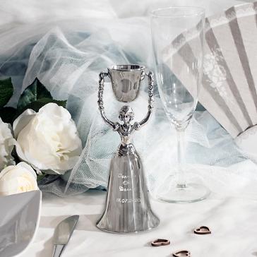 Brautbecher Elise dekoriert