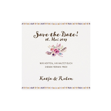 Save-the-Date-Karte oder Dankeskarte Nicole