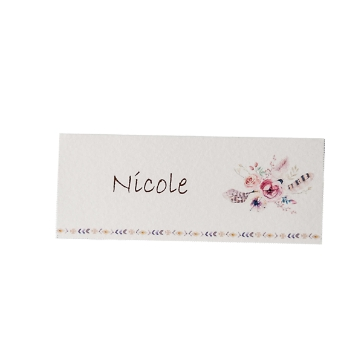 Tischkarte Nicole