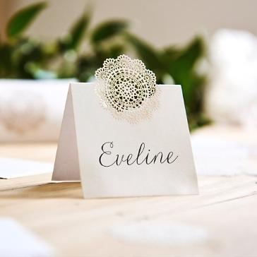 Tischkarte Hochzeit Spitze