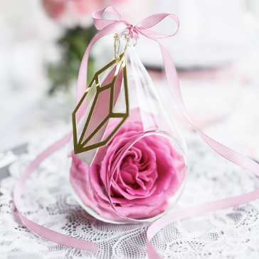 Hängedeko Glas zum Befüllen mit Rose