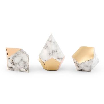 Gastgeschenk Marmor Geometrix Gold