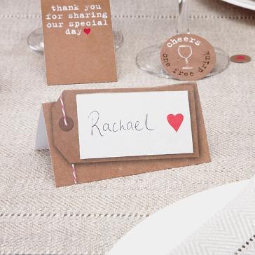 Tischkarte zur Hochzeit Just my type
