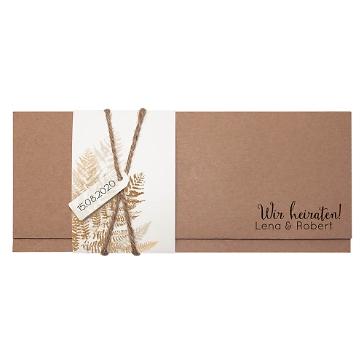 Hochzeitseinladung Amelie aus Kraftpapier