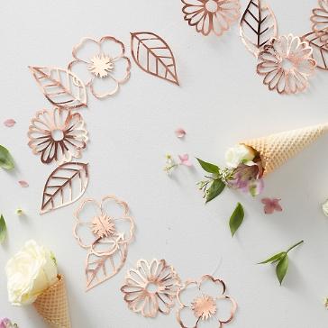 Girlande Hochzeit Blumen Lasercut