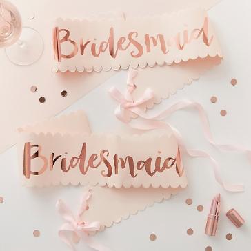 Schärpe Bridesmaid, roségold