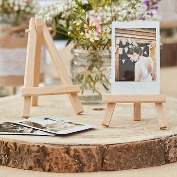 Mini-Staffelei aus Holz für Tischkarten