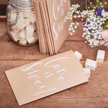 Gastgeschenk Tüten Kraftpapier