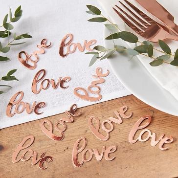 Streudeko Hochzeit Love, roségold